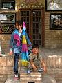 Children in Ribat-i-Abbasi of Nishapur (Hossein - Ali - Fatemeh - Hengameh and another girl - probably Afghani) 19.jpg