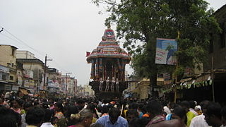 Car festival as part of chitirai festival