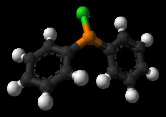 Chlorodiphenylphosphine - Image: Chlorodiphenylphosph ine 3D balls