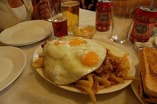 Chorrillana Chilean dish