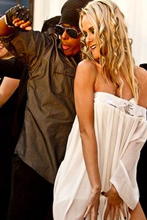 "Chosen Effect - Entertainer Chosen Effect with model girlfriend Krystal Lee at ""Liar Liar"" music video shoot May 7th 2011"