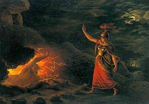 Hervor - Image: Christian gottlieb kratzenstein stub hervor henter sværdet hos angartyr