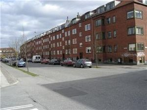 Aarhus N -  Christiansbjerg. Apartment blocks and public housing built in the 1930s and 1940s.
