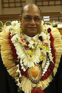 Christopher Loeak president of the Marshall Islands