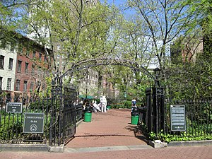 Stonewall National Monument - Christopher Park entrance
