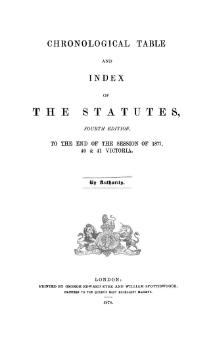 Chronological Table and Index of the Statutes.djvu