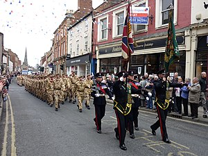 Mercian Regiment - Mercian Regiment in Ashbourne, Derbyshire on 18 March 2010