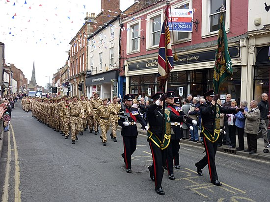 Mercian Regiment in Ashbourne, Derbyshire on 18 March 2010 - Mercian Regiment