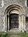 Church of St Margaret of Antioch, Margaret Roding Essex England - nave south portal.jpg