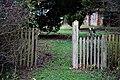 Churchyard gate to All Saints Church, Berners Roding, Essex, England 02.jpg