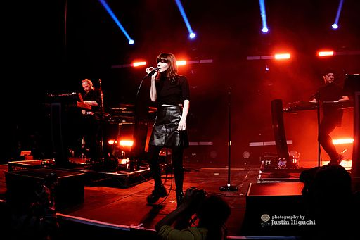 Chvrches performing live at The Fonda Theatre in Hollywood (Los Angeles) California on Monday December 14th, 2015