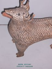 Deer effigy, pottery. Cochiti, New Mexico
