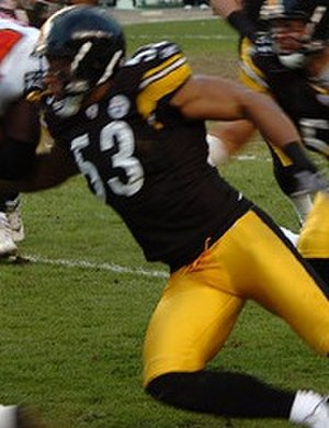 Clark Haggans - Haggans in 2006 with the Pittsburgh Steelers.
