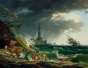 Tempête sur la côte méditerranéenne