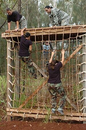 Cargo net - Climbing a cargo net