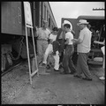 Closing of the Jerome Relocation Center, Denson, Arkansas. Hospital patients were the first to be e . . . - NARA - 539659.tif