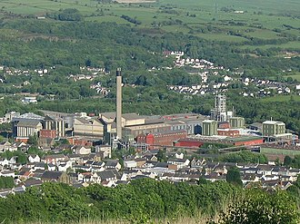 Clydach, Swansea - Image: Clydach Refinery seen from above geograph.org.uk 177129