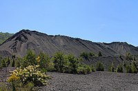 Coal waste pile west of Trevorton, Pennsylvania far shot 2.JPG