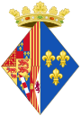 Coat of Arms of Marguerite of Angouleme, Queen Consort of Navarre.svg
