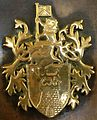 Coat of arms of the Colony of Singapore on a plaque at the Arts House at the Old Parliament, Singapore - 20130511.jpg