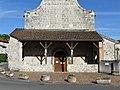 Colayrac-Saint-Cirq Saint-Cirq église porche.jpg