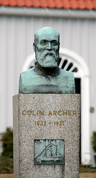 Colin Archer - Bust of Colin Archer in Larvik, Norway