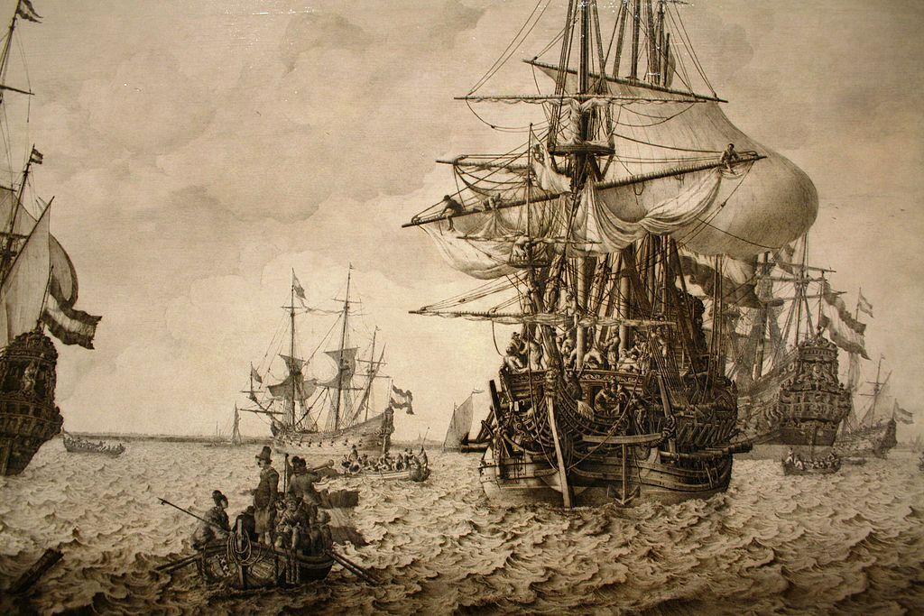 Débarquement d'un bateau, oeuvre du musée de la marine à Amsterdam