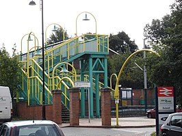 Colourful Footbridge Leading to Bulwell Station - geograph.org.uk - 949896.jpg
