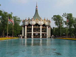 Six Flags Great America - Columbia Carousel is Great America's signature ride.