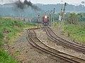 Comboio que entrava sentido Boa Vista no pátio da Estação Pimenta em Indaiatuba - Variante Boa Vista-Guaianã km 216 - panoramio.jpg