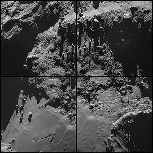 Comet 67P on 18 October 2014a NavCam montage.jpg