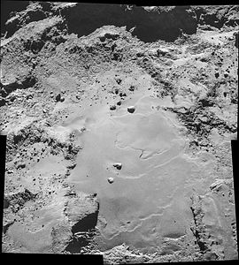 Comet 67P on 26 October 2014 NavCam mosaic.jpg
