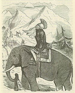 Comic History of Rome p 173 Hannibal crossing the Alps.jpg