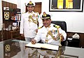 Commodore Balbir Kumar Munjal takes over Command of INS India and Station Commander Delhi Area from Commodore Vijesh Kumar Garg, at INS India, in New Delhi on April 10, 2015.jpg