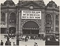 Commonwealth of Australia 7th war loan advertisement over the Swanston Street entrance to Flinders Street Railway Station, Melbourne, 1918 (16799775579).jpg