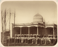 Communal Prayer at the Annual Festival and the Officials of the Mosques. Eid Prayer. In Tashkent at the Sheikhantaur Mosque WDL10801.png
