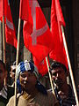 Communist Demonstrators with Hammer-and-Sickle Banners - BBD Bagh District - Kolkata.jpg