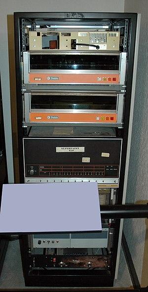 SuperPaint - Richard Shoup's SuperPaint computer, a Data General Nova 800, at the Computer History Museum