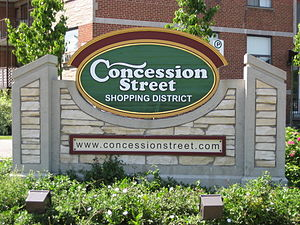 Concession Street (Hamilton, Ontario) - Image: Concession Street Sign