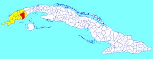 Consolación del Sur - Image: Consolación del Sur (Cuban municipal map)