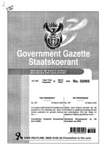 Constitution Sixteenth Amendment Act of 2009 from Government Gazette.djvu