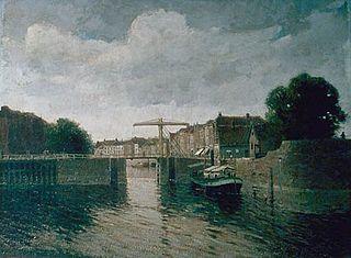 Harbor with bastion and tree bridge