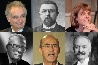 Corps des mines - Members of the Corps des mines, from the left to the right and the top to the bottom: Jacques Attali (author, economist), Henri Poincaré (mathematician, physicist), Anne Lauvergeon (business executive), Maurice Allais (Nobel Prize in Economics), Patrick Kron (business executive) and Albert Lebrun (President of France).