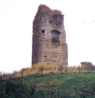 Barony and Castle of Corsehill village in East Ayrshire, Scotland, UK