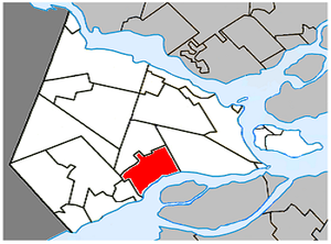Coteau-du-Lac, Quebec - Image: Coteau du Lac Quebec location diagram