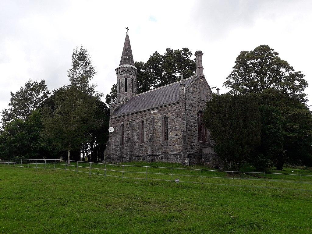 old stone church near castle saunderson