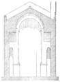 Coupe de l'église abbatiale de Saint-André-de-Sorède par Jean-Auguste Brutails.png