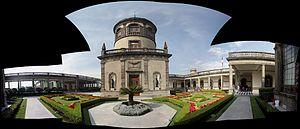 Chapultepec Castle - Garden view