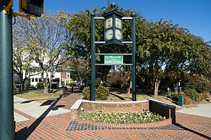 "Kellie Pickler - A banner proclaims Albemarle as ""Home of Kellie Pickler"""