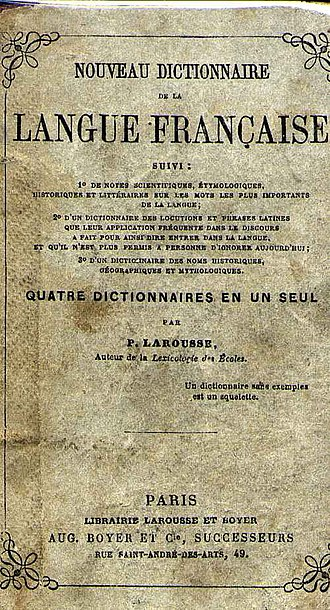 Pierre Larousse - The cover of the first Larousse French dictionary in 1856
